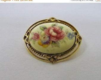 On Sale Vintage Inspired Floral Design Pin Item K # 1835