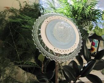 """Garden Art Plate Flower Sculpture - """"Lily"""""""