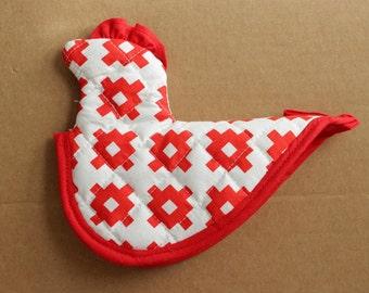 Chicken Potholder Sewing Pattern - Vintage Inspired Hotpad