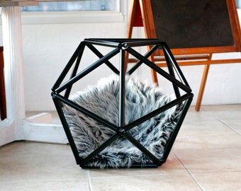 Cat Bed, Dog Bed, Pet Bed, Retro, Geometric, Himmeli Sphere, Hanging Cat Bed