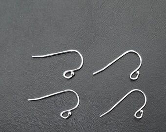 5 Pair - Sterling Silver Earring Wire Ball End, 92.5%, 21 Gauge, 5, 20 or 50 Pairs, Bulk Buy