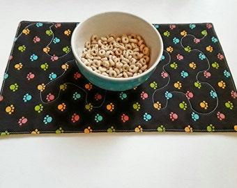 Tischset für Haustier Schale, Hund/Katze-Matte, Haustier Tischset, Tiernahrung Tischset, Wasser Schüssel