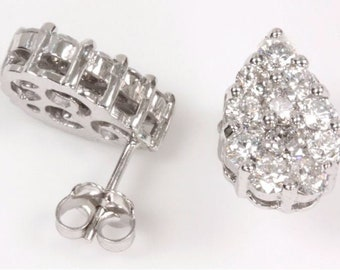2 ct tw Natural Diamond (G-H, SI3) Gold Stud Earrings