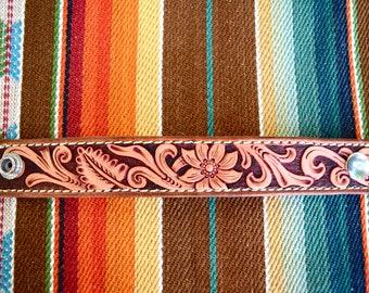 Tooled Leather Western Bracelet