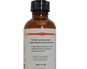 Copper Peptide (GHK-Cu) Pro Skin Care Serum with Hyaluronic Acid 2.3 oz