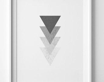Modern print, grey wall art, grey print, wall art print, geometric art, geometric print, modern wall art, grey poster, geometric poster