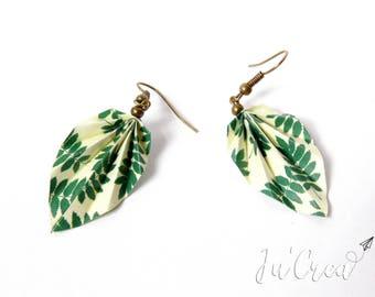 Origami jungle leaf earrings