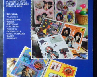 Fiskars Scrapbook Ideas Snip your Snapshots HOTP Hot off the Press Booklet 2093, Scrapbooking photos, pictures, page layout designs 1995