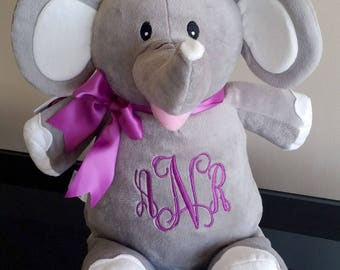 Personalized elephant, personalized stuffed animal, monogrammed baby gifts, baby girl gifts, personalized baby gifts, stuffed animal