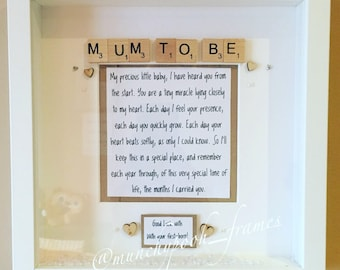 Mum to Be Personalised Frame (Mum-to-Be) Mom to Be Mother to Be Mothers Day Gift for Mum Mother's Day Gift