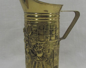 Brass Stein, Peerage Decorative Stein, Brass Decanter, Brass Pitcher, Made in England, Brass Barware, Brass Tankard