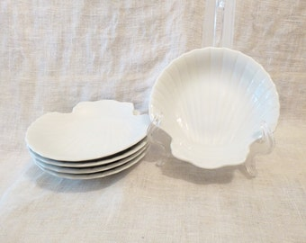 Seashell Porcelain Dishes Set of 5, Made in Japan Expressly for Lord & Taylor 5.5""