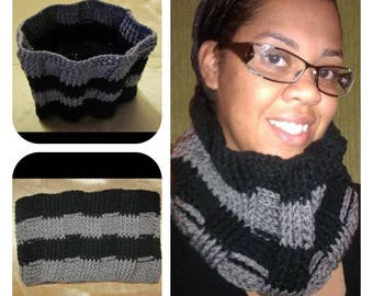 Black and Grey Cowl