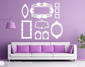 Picture Frame Wall Decals Baroque Collection (Large) Custom Home Decor