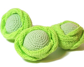 Crochet Cabbage Amigurumi food Crochet vegetables Pretend Play Food Veggies Crochet food Play Kitchen food Tactile toy Learning toys