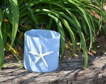 Blue Sand Candle Holder/Vase