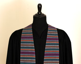 "Clergy Stole, Handwoven, #157, Pastor Stole, Minister Stole, 54"" Length, Pastor Gift, Vestments"