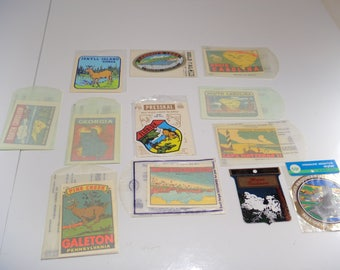 Vintage lot of 11 States Sticker Nature Stickers Florida Georgia S Carolina N carolina an more