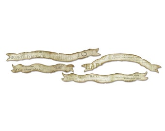 Tim Holtz Sizzix Sizzlits Decorative Strip Die - Tattered Curvy Banners