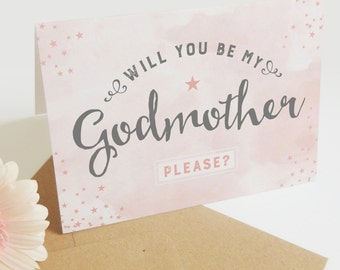 Will you be my Godmother? card
