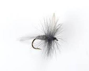 Fishing Flies - 3 Blue Dunn Flies - Sizes 14, 16, 18