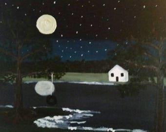 Summer Nostalgia-Acrylic Painting