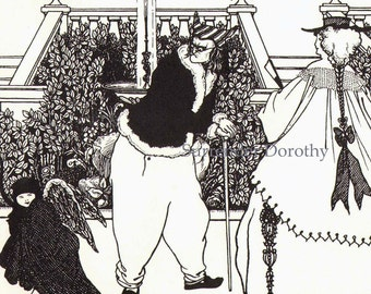 Formal Gardens Cover Design For The Savoy by Aubrey Beardsley 1897 Victorian Era Black & White