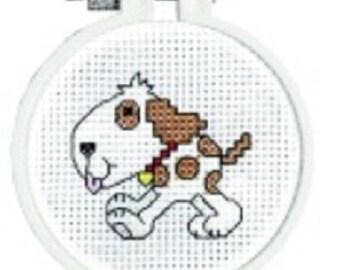 Janlynn Kid Stitch DOGGY Counted Cross Stitch Kit. Great for Beginners , counted cross stitch kit, embroidery , dog cross stitch kit