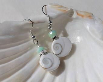 Sea Shell Earrings, Sea Shell Jewelry, Nautical Jewelry, Boho Beach Jewelry, Bridesmade Gift, Ocean Jewelry, Beach Wedding