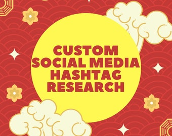 Custom Social Media HASHTAG RESEARCH - Keyword Research - Marketing - Niche Related - Keyword Optimization - Instagram Deep Analysis
