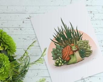 Snail & Succulents Nursery Wall Art - Instant Download - Printable Art - Gender Neutral - Nursery Decor - Printable Nursery Art - DIY Print