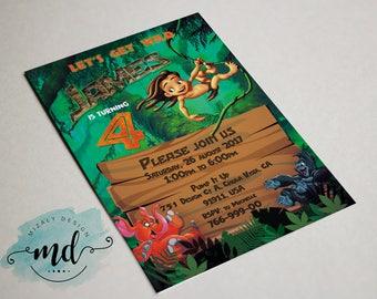 Tarzan Invitation Printable
