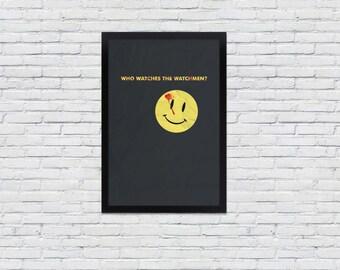 Watchmen Fine Art Print / 12 x 18 / Smiley / Alan Moore - Graphic Novel