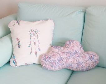Blue 40x23cm pink cloud cushion