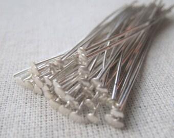 Silver Plated Headpin 20 Gauge 2 Inch Headpin Item No. 8767