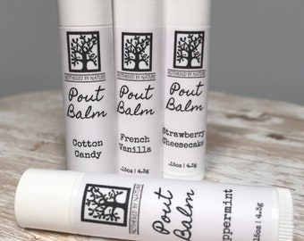Pout Balm, Vegan Lip Balm, Lip Balm, Gifts for her, Vegan Chapstick, Moisturizing lip balm