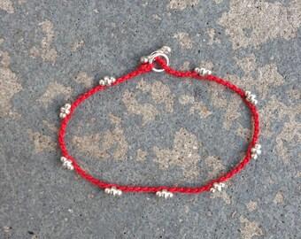 Bracelet Colo 09 Sterling Silver Knotting Cord Handmade (B109SS-K)