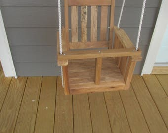 Childs Natural Reclaimed Barn Wood Swing with Natural Non-Toxic Finish
