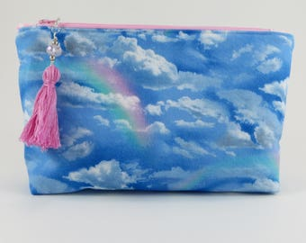 Makeup Bag - Travel Bag - Cosmetic Bag - Cute Makeup Bag - Zipper Bag - Small Makeup Bag - Sister Gift - Rainbow - Birthday Gift - Mom Gift