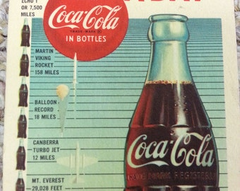 1960 Drink Coca-Cola In Bottles Blotter Litho In USA Over 60 Million a Day