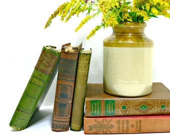 Salt Glaze Crock, Antique C & B Cotton and Barlow Stoneware Pottery Jar, Made in England