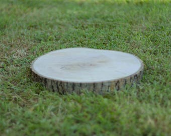 Wood slices 15-20cm rustic display centrepieces