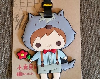 Cute Boy Luggage Tag-Travel-Backpack Tag- Tag-Backpack ID- Suitcase Tag