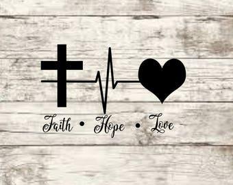 Faith Love Hope SVG