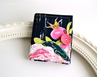 ROSE BUD - Earring Book - Jewelry Pouch - Jewelry Organizer - Earring Display - Bridesmaid Gift - Needle book - Sewing Needle Holder