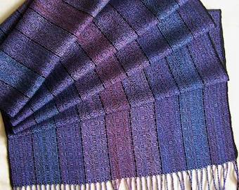 "Handwoven Shawl Scarf Wrap Stole 20""x 70"" hand woven Tencel cotton"
