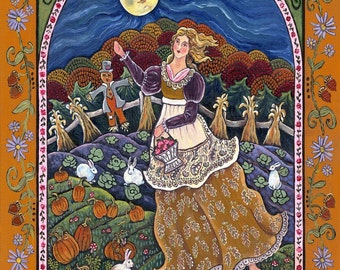Autumn Maiden Large Print by Dee Sprague