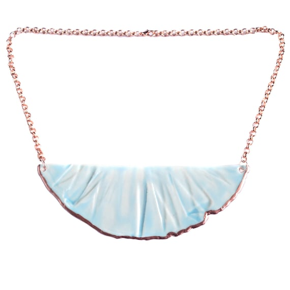 RUCHED No4 bib necklace
