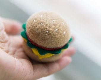 CHEESEBURGER / HAMBURGER - Catnip filled cat toy, cat toy, catnip toy, catnip hamburger, catnip cheeseburger, hamburger, cheeseburger