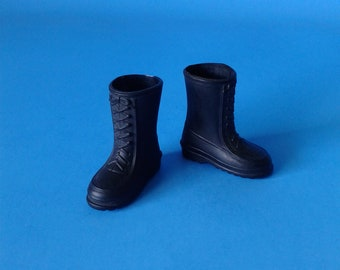 "Big Jim Vintage "" Black Boots "" 1970's Mattel"